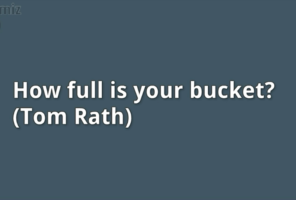 How full is your bucket dr sangeetha madhu